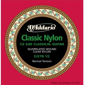 DADDARIO EJ27N-1/2 Normal Tension E1-E6 Classic Guitar Strings. Saiten für Konzertgitarre