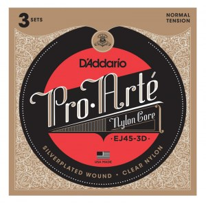 DADDARIO EJ45-3D Pro Arte Normal Tension E1-E6 Classic Guitar Strings. Saiten für Konzertgitarre
