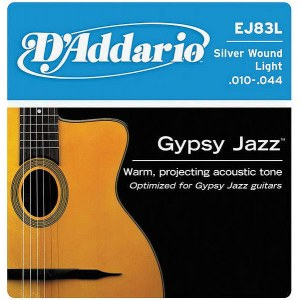 DADDARIO EJ83L Gypsy Jazz Light 010-044 Silver Wound Strings. Saiten für Jazzgitarre