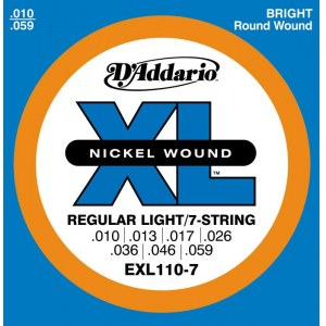 DADDARIO EXL110-7 Regular Light 010-059 Nickelplated Steel Round Wound. Saiten E-Gitarre