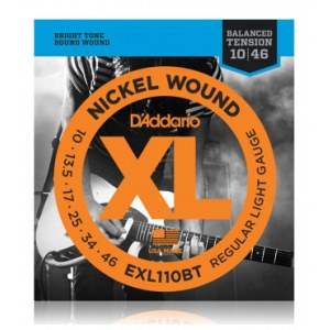 DADDARIO EXL110BT Balanced Tension 010-046 Nickel Wound, Regular Light, Saiten für E-Gitarre