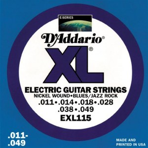 DADDARIO EXL115 Blues/Jazz Rock 011-049 Nickelplated Steel Round Wound. Saiten E-Gitarre
