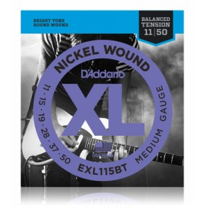 DADDARIO EXL115 BT Balanced Tension 011-050 Nickel Wound, Medium, Saiten für E-Gitarre