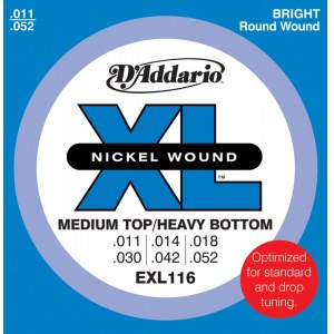 DADDARIO EXL116 Medium/Heavy 011-052 Nickelplated Steel Round Wound. Saiten E-Gitarre