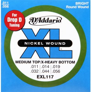 DADDARIO EXL117 Medium/X-Heavy 011-056 Nickelplated Steel Round Wound. Saiten E-Gitarre