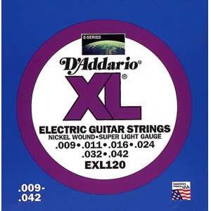 DADDARIO EXL120 Super Light 009-042 Nickelplated Steel Round Wound. Saiten E-Gitarre