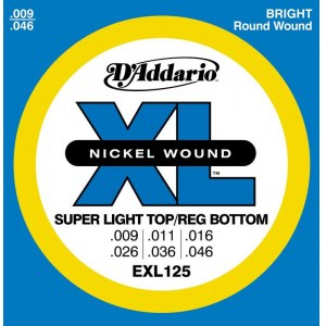 DADDARIO EXL125 Super Light Top 009-046 Nickelplated Steel Round Wound. Saiten E-Gitarre