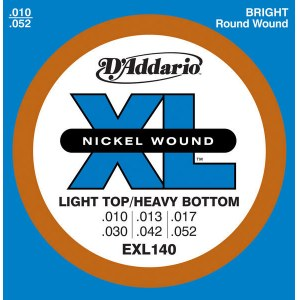 DADDARIO EXL140 Light/Heavy 010-052 Nickelplated Steel Round Wound. Saiten E-Gitarre