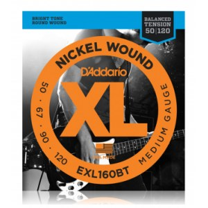 DADDARIO EXL160 BT Balanced Tension 050-120 Nickel Wound, Medium, Saiten für E-Bass