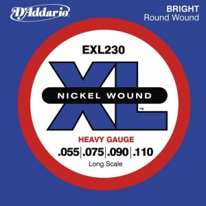 DADDARIO EXL230 Medium/Long Scale 055-110 Nickelplated Steel Round Wound. Saiten für E-Bass