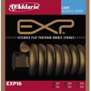 DADDARIO EXP16 Coated PB Light 012-053 Phosphor Bronze Round. Saiten für Westerngitarre