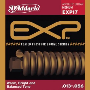DADDARIO EXP17 Coated PB Medium 013-056 Phosphor Bronze Round. Saiten für Westerngitarre