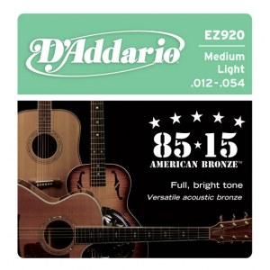 DADDARIO EZ920 Medium Light 012-054 American Round Wound. Saiten für Westerngitarre