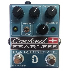 DAREDEVIL Cocked & Fearless Distortion Wah Effektpedal