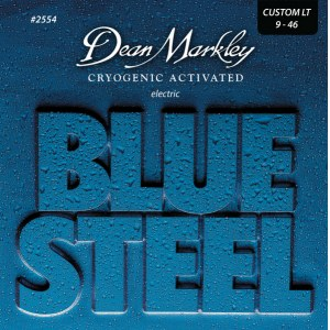 DEAN MARKLEY 2554 Blue Steel Custom Lite 009-046 Cryogenic Activated Steel. Saiten E-Gitarre