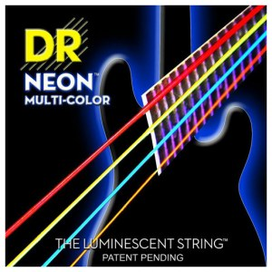 DR STRINGS MCB-45 Multi-Color Neon Bass Stainless Steel Saiten, E-Bass (4-Saiter)