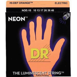 DR STRINGS NOE-10 Neon Orange Electric 010-046 Nickel Plated Steel. Saiten E-Gitarre