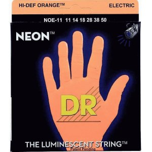 DR STRINGS NOE-11 Neon Orange Electric 011-050 Nickel Plated Steel. Saiten E-Gitarre
