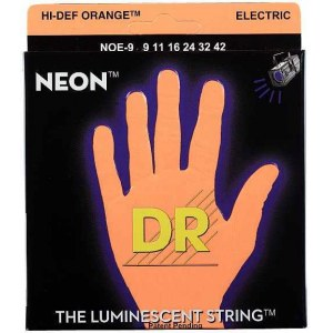 DR STRINGS NOE-9 Neon Orange Electric 009-042 Nickel Plated Steel. Saiten E-Gitarre
