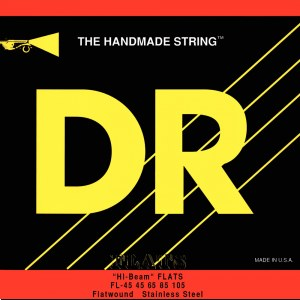 DR STRINGS FLB-45 Hi-Beam Flats 045-105 Stainless Steel Saiten, E-Bass (4-Saiter)