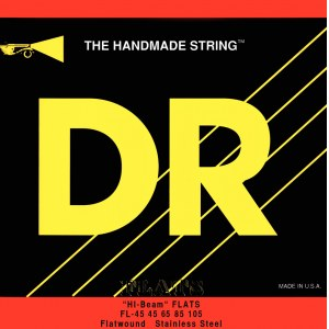 DR STRINGS FLB-45 Hi-Beam Flats 045-125 Stainless Steel Saiten, E-Bass (5-Saiter)