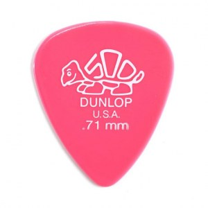JIM DUNLOP 410 Delrin 500 Standard Player 0,71mm Plektrum, rosa (Stück)