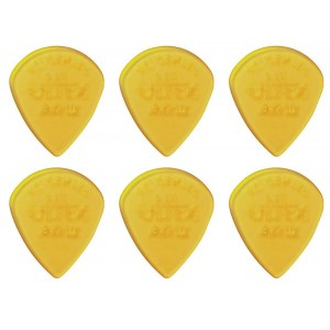 JIM DUNLOP 427P Ultex Jazz III XL Player Pack 1,38 Plektrum (6 Stück), gelb