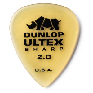 JIM DUNLOP 433 Ultex Sharp Player 2,00mm Plektrum, tequila-gold (Stück)