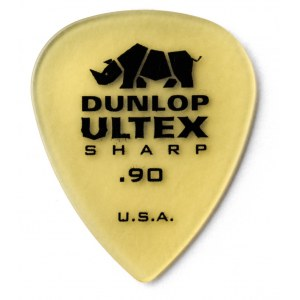 JIM DUNLOP 433 Ultex Sharp Player 0,90mm Plektrum, tequila-gold (Stück)