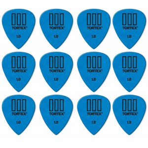 JIM DUNLOP 462P Tortex III Players Pack 1,00mm Plektrum (12 Stück), blau