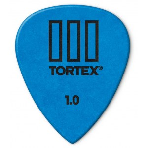 JIM DUNLOP 462P Tortex TIII Players 1,00mm Plektrum (Stück), blau