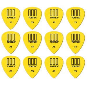 JIM DUNLOP 462P Tortex TIII Players Pack 0,73mm Plektrum (12 Stück), gelb