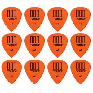 JIM DUNLOP 462P Tortex TIII Players Pack 0,60mm Plektrum (12 Stück), orange