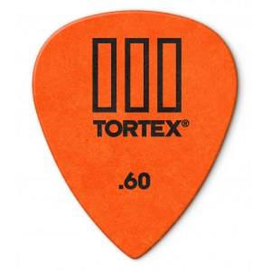 JIM DUNLOP 462P Tortex TIII Players 0,60mm Plektrum (Stück), orange
