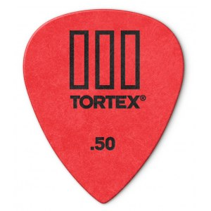 JIM DUNLOP 462P Tortex TIII Players 0,50mm Plektrum (Stück), rot