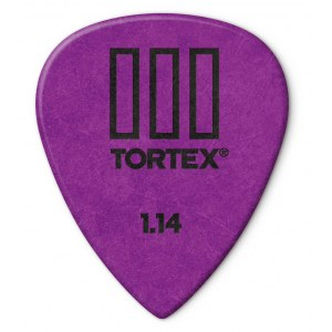 JIM DUNLOP 462P Tortex III Players 1,14mm Plektrum (Stück), violett