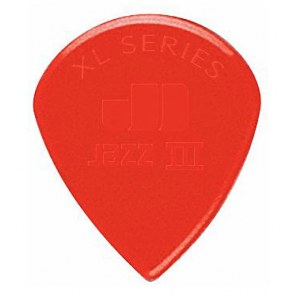JIM DUNLOP 47R-N Nylon Jazz III XL 1,38mm Pack Plektrum, rot (6 Stück)