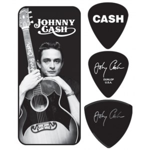 JIM DUNLOP Johnny Cash Memphis Collector Tin Box Collector Plektren, medium (6 Stück) - JCPT01M