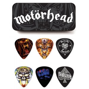 JIM DUNLOP Motörhead Album Collector Tin Box 0.73 Collector Plektren (6 Stück) - MHPT03