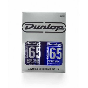 JIM DUNLOP Platinum 65 Guitar Care Pflegeset Pflegemittel inkl. Micofasertuch (6522)