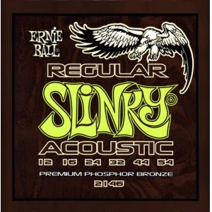 ERNIE BALL 2146 Acoustic Slinky Regular 012-054 Phosphor Bronze, Saiten für Westerngitarre