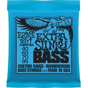 ERNIE BALL 2835 Slinky Bass Extra 040-095 Nickelwound Steel. Saiten für E-Bass