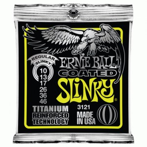 ERNIE BALL 3121 Regular Coated Slinky 010-046 Coated Titanium. Saiten für E-Gitarre