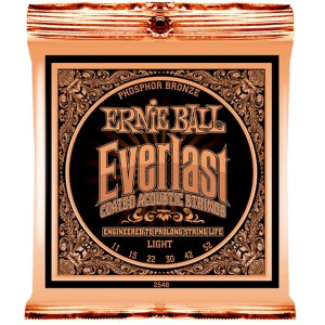 ERNIE BALL 2548 Everlast Coated Medium 011-052 Phosphor Bronze Coated, Saiten für Westerngitarre