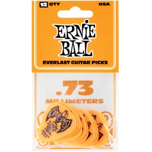 ERNIE BALL 9190 Everlast Pick Pack 0,73mm Plektren, orange (12Stück)