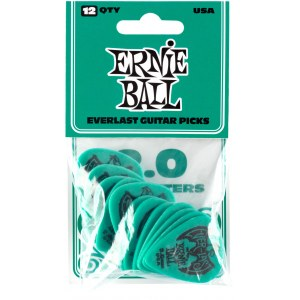 ERNIE BALL 9196 Everlast Pick Pack 2,00mm Plektre, teal (12Stück)