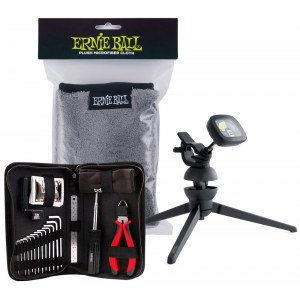 ERNIE BALL Care-Paket (3er Set) Pflegeset aus Cradletune/Tool-Kit/Poliertuch