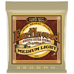 ERNIE BALL 2003 Earthwood Bronze Medium 012-054 Saiten für Westerngitarre