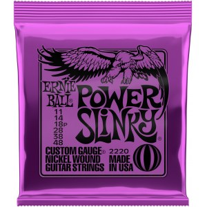 ERNIE BALL 2220 Power Slinky 011-048 Nickel plated Steel. Saiten für E-Gitarre