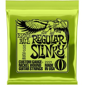 ERNIE BALL 2221 Regular Slinky 010-046 Nickel plated Steel. Saiten für E-Gitarre